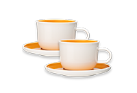 Orange Cappuccino Cups more coffees