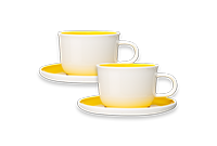 Yellow Cappuccino Cups