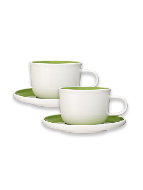Green Cappuccino Cups