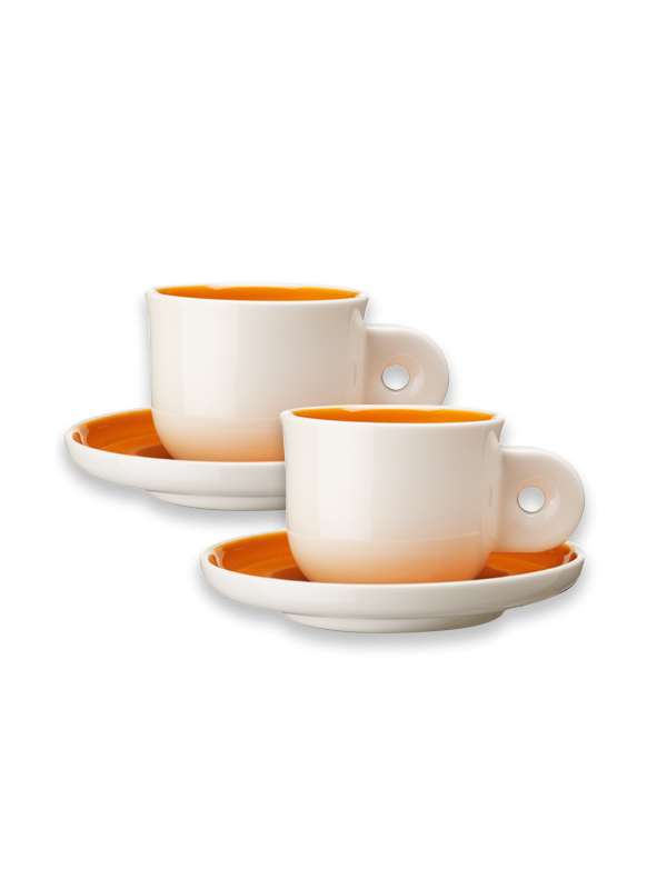 Orange Espresso Cups