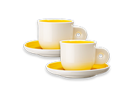 Yellow Espresso Cups more coffees