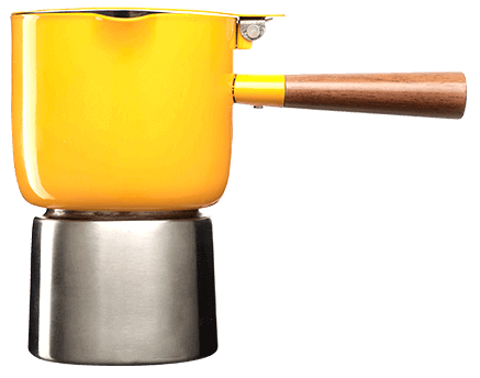 YELLOW MOKA POT